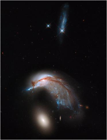 Dos galaxias chocando